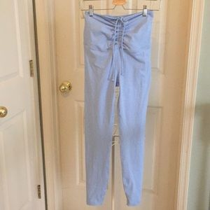 Year of ours ruched leggings in sky blue size M